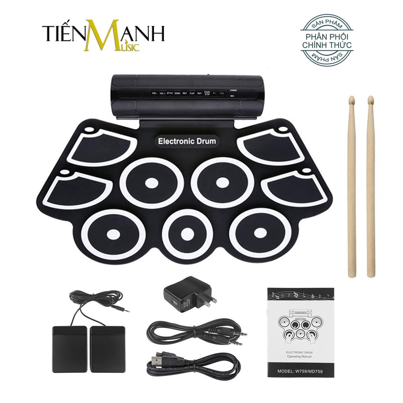 Bộ Trống điện tử 9 Mặt Konix W760 - Electronic Drum Kit Ultra Portable 9 Pad  Digital - Chính Hãng