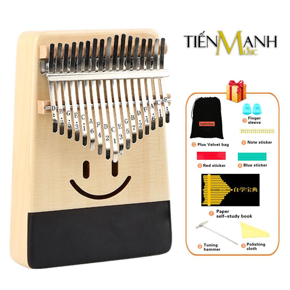 Đàn Kalimba Yael 17 Phím Gỗ Vân Sam Y17S-S (Mặt cười - Mbira Thumb Finger Piano 17 Keys)