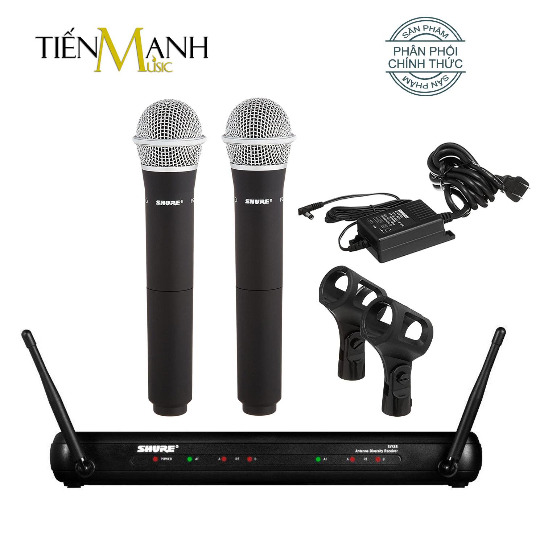 Bộ 2 Mic Shure Không Dây Chính Hãng SVX288E/PG58 - Micro Cầm Tay Vocal Microphone Karaoke SVX288E PG58 - Chính Hãng USA