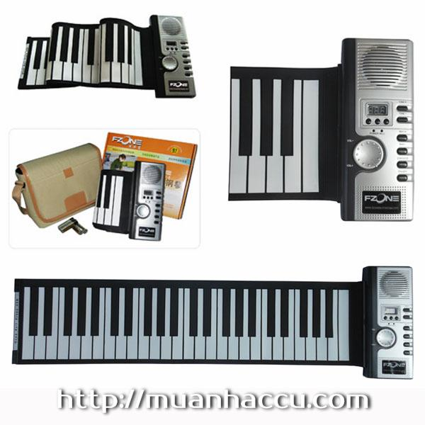 Piano phím mềm - Piano cuộn - Roll Up Piano - Soft Keyboard Piano 49 key