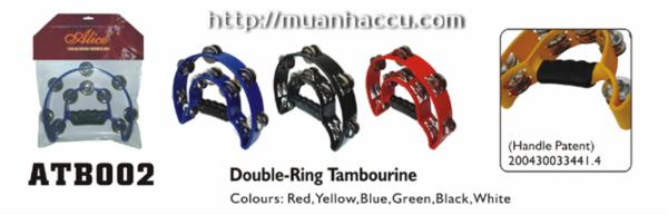 Double-Ring Tambourine
