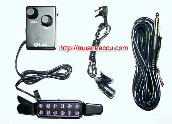 Pickup Đàn Acoustic Guitar QH-6B (Bộ thu âm Guitar)