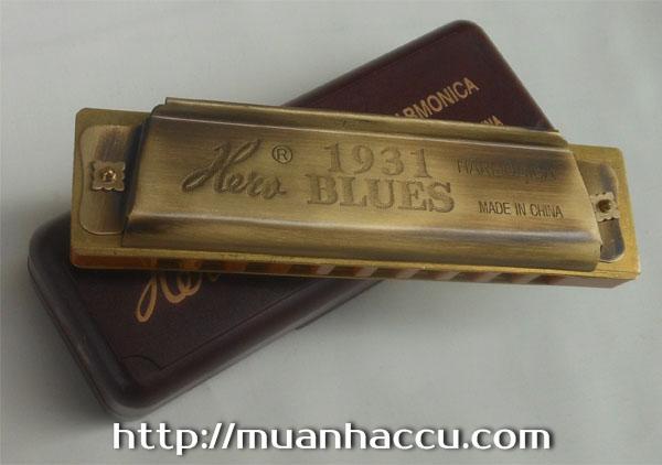 Kèn Harmonica Hero 10 lỗ - Hero 1931 Blues Harmonica Archaize Copper