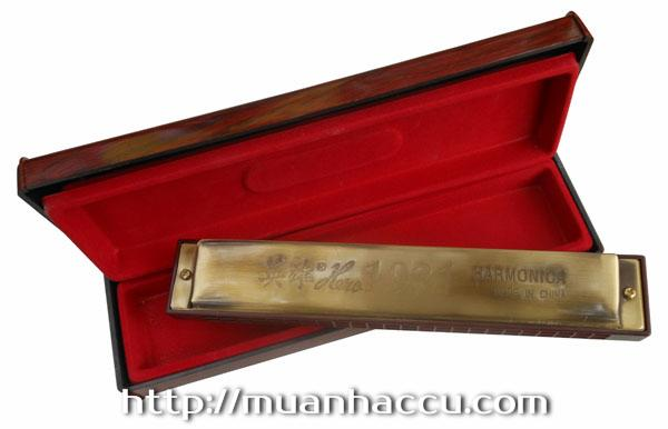 Kn Harmonica Hero 24 l - Hero 1931 Golden Life 24 Holes Tremolo Harmonica