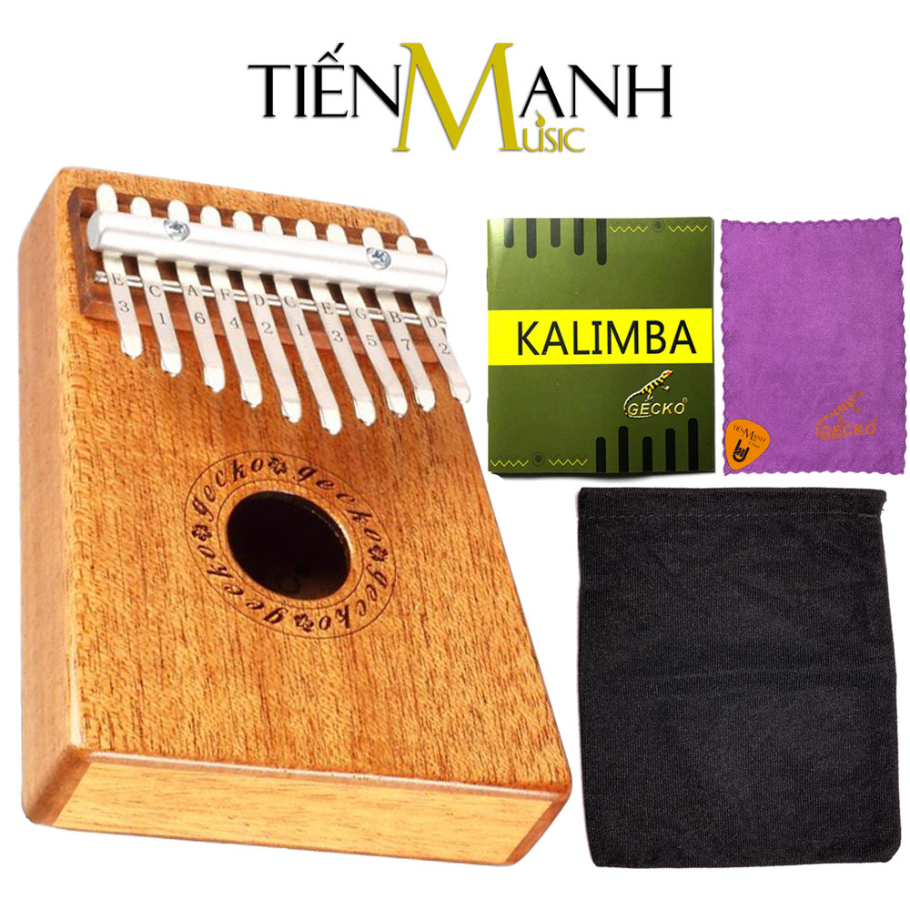 Đàn Kalimba Gecko 10 Phím K10M (Gỗ Mahogany - Mbira Thumb Finger Piano 10 Keys)