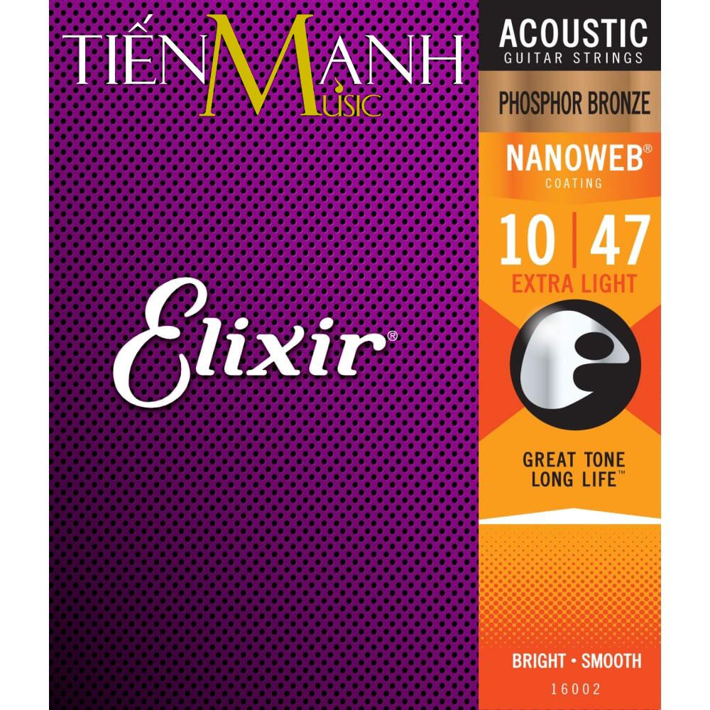 Dây Đàn Guitar Acoustic Elixir 16002 (Phosphor Bronze - Phủ lớp Nanoweb)