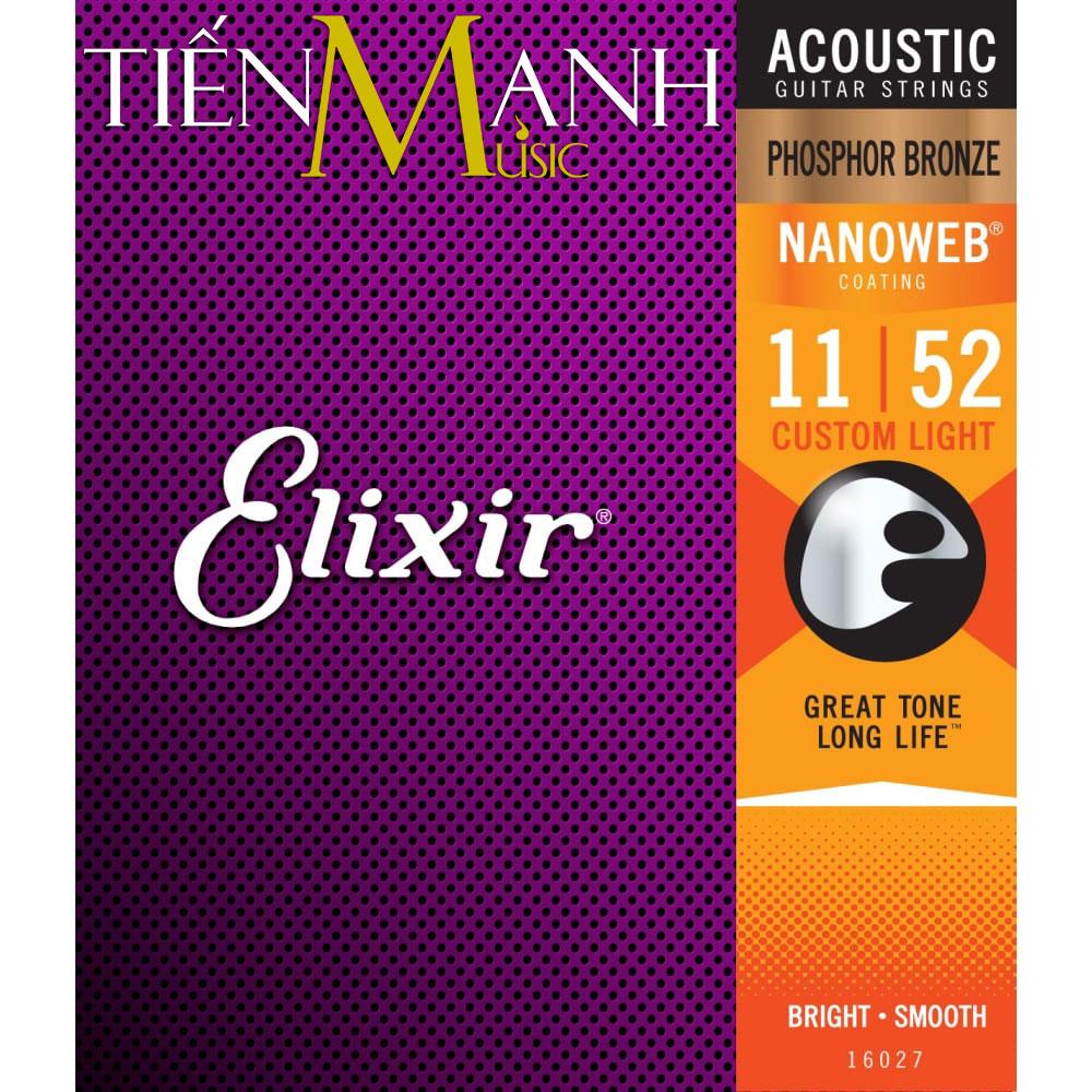 Dây Đàn Guitar Acoustic Elixir 16027 (Phosphor Bronze - Phủ lớp Nanoweb)
