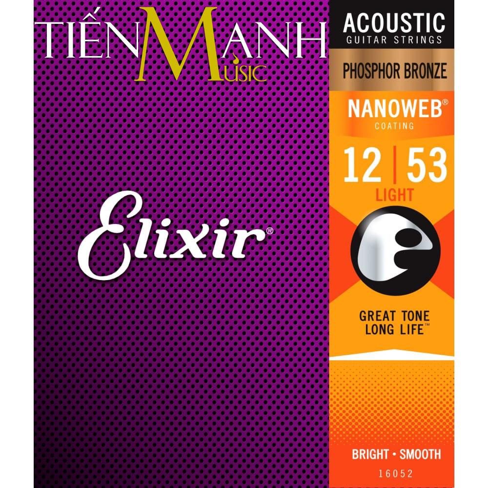 Dây Đàn Guitar Acoustic Elixir 16052 (Phosphor Bronze - Phủ lớp Nanoweb)