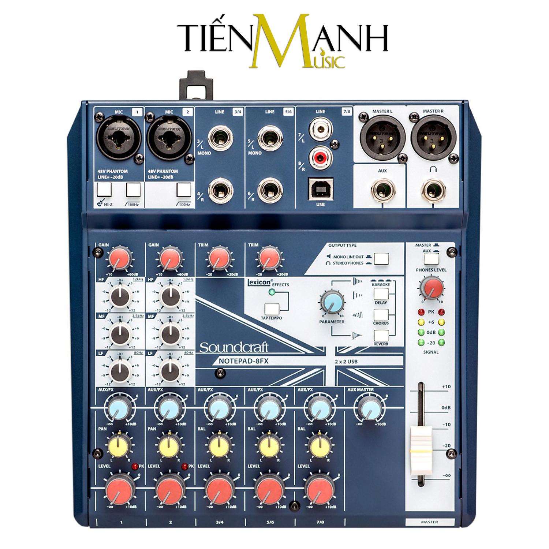 Bộ Trộn Âm Thanh Soundcraft Notepad 8FX