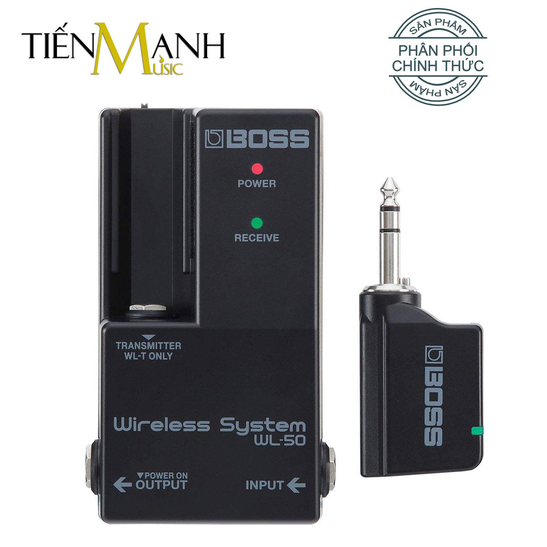 Boss WL-50 Bộ Thu Phát Tín Hiệu Không Dây Wireless System (Pin sạc, Dùng cho Đàn Guitar và mọi loại Nhạc Cụ khác WL50)