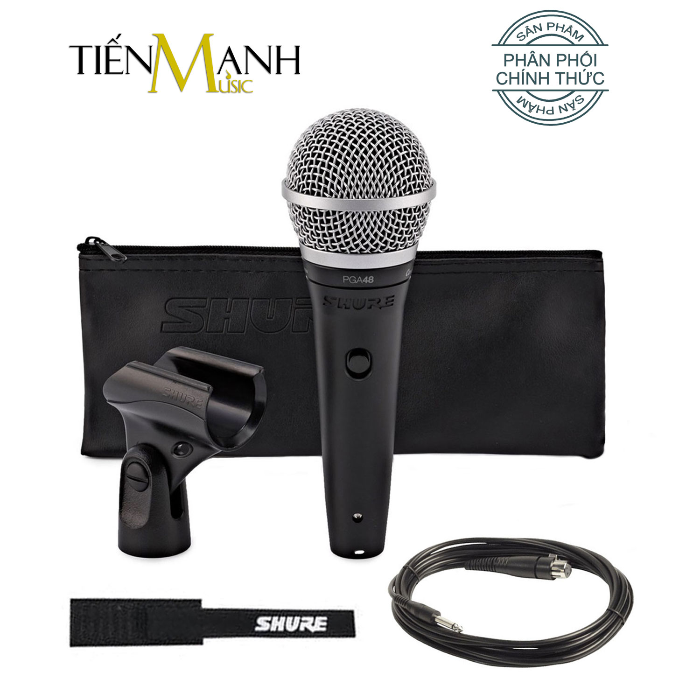 Micro Có Dây Cầm Tay Shure PGA48-QTR Vocal Microphone Karaoke Mic - Chính Hãng USA