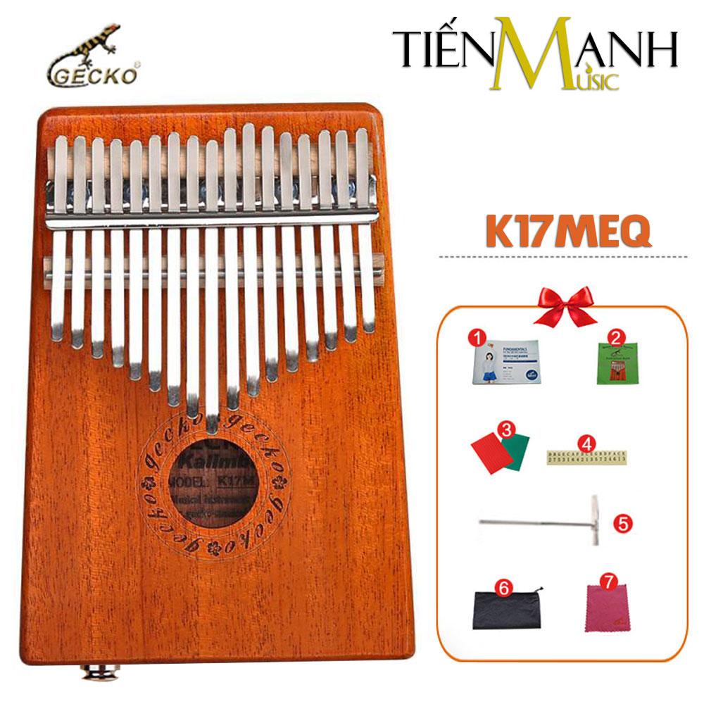 Đàn Kalimba Gecko 17 Phím K17MEQ (Có EQ - Gỗ Mahogany - Mbira Thumb Finger Piano 17 Keys)