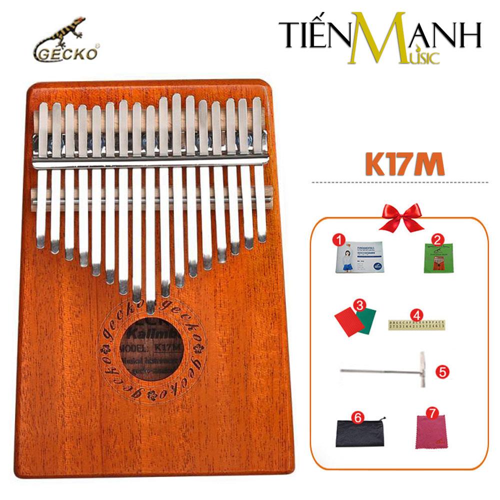 Đàn Kalimba Gecko 17 Phím K17M (Gỗ Mahogany - Mbira Thumb Finger Piano 17 Keys)