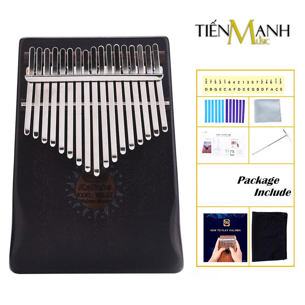 Đàn Kalimba Walter 17 Phím WK-17BK (Đen - Gỗ Mahogany - Mbira Thumb Finger Piano 17 Keys)