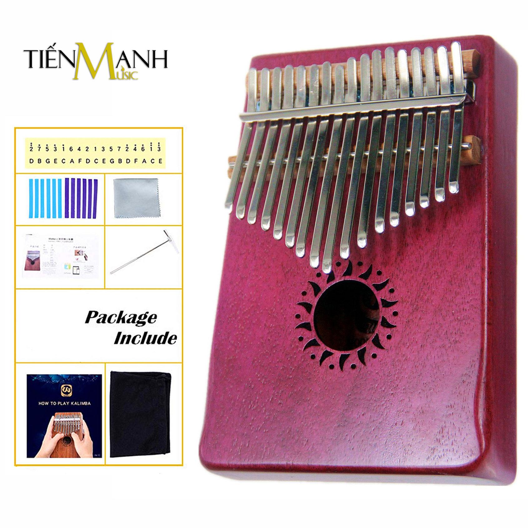 Đàn Kalimba Walter 17 Phím WK-17PL (Hồng - Gỗ Mahogany - Mbira Thumb Finger Piano 17 Keys)
