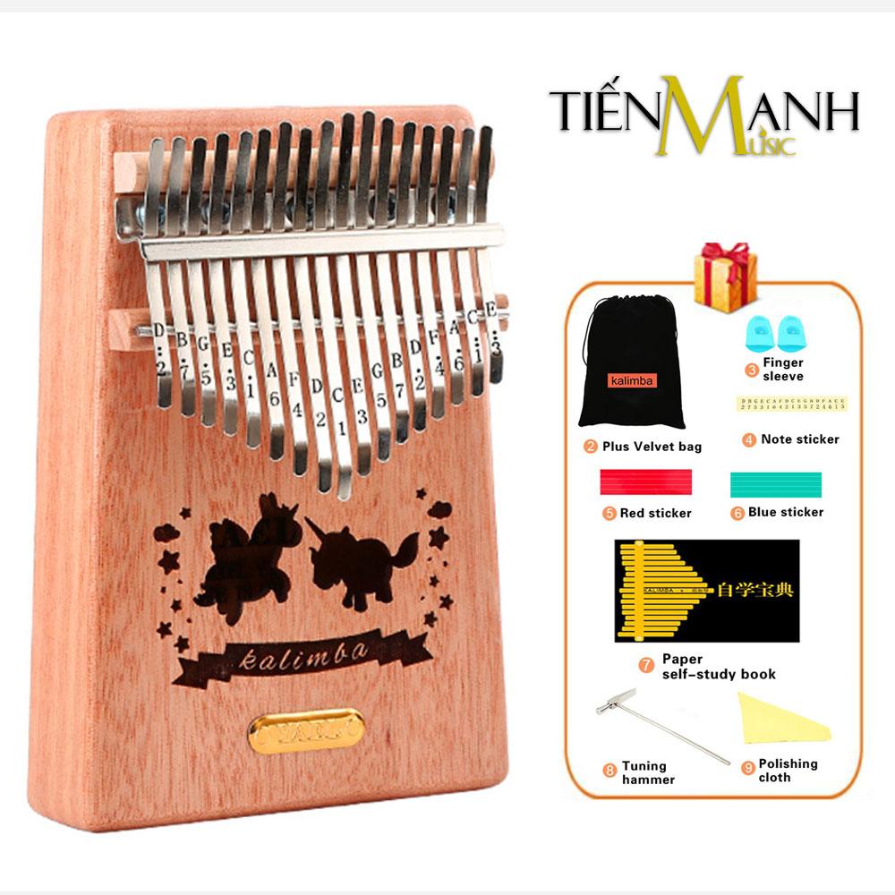 Đàn Kalimba Yael 17 Phím Gỗ Mahogany Y17M-U (Ngựa một sừng - Mbira Thumb Finger Piano 17 Keys)