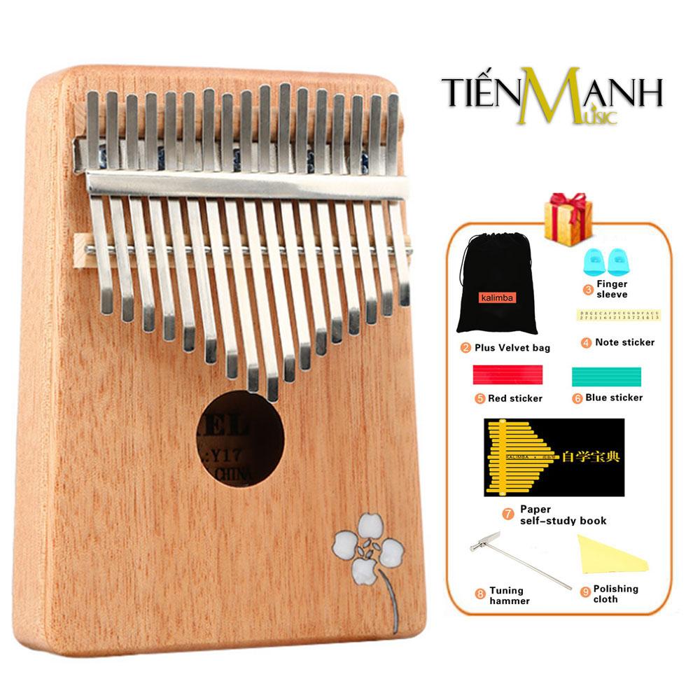 Đàn Kalimba 17 Phím Gỗ Mahogany Yael Y17M-AF -  (Hoa Táo - Mbira Thumb Finger Piano 17 Keys)
