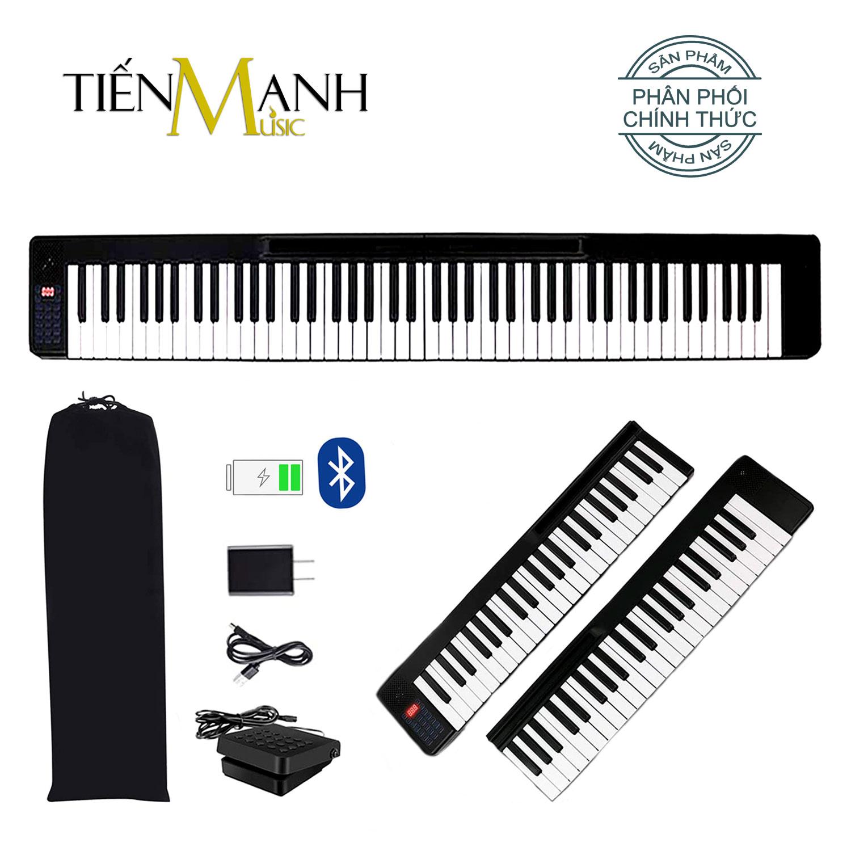 Đàn Piano Điện Gấp Gọn 88 Phím Cảm Ứng Lực Bora BR-01 (Kèm Bao Đựng, Loa Kép, Bluetooth KeyBoard, Sustain Pedal)