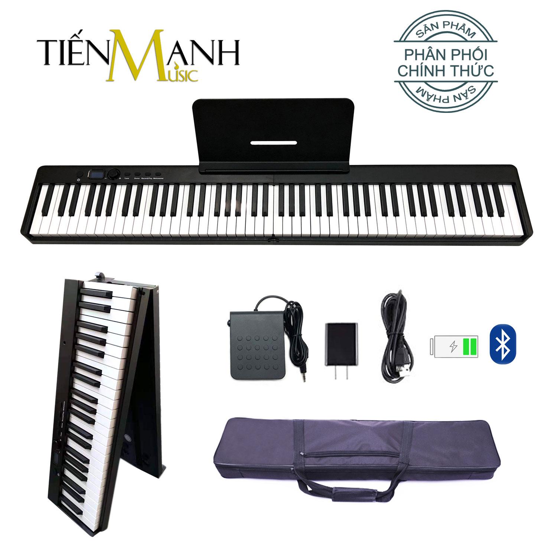 Đàn Piano Điện Gấp Gọn Bora BX-20 - 88 Phím Cảm Ứng Lực BX20 (Kèm Giá để bản nhạc, Pin sạc, Bluetooth, Pedal Sustain BR-02, Bao đựng)