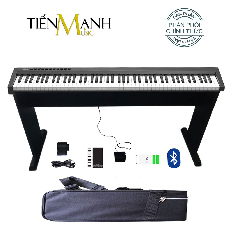 Bộ Đàn Piano Điện Konix PH88C - Kèm Chân Gỗ, Bao Đựng, Sustain Pedal, Giá để bản nhạc - 88 Phím nặng Cảm ứng lực - Midi Keyboard Controllers