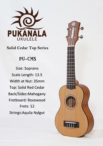 Đàn Ukulele Pukanala Soprano PU-CMS