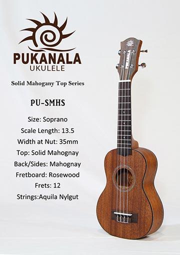 Đàn Ukulele Pukanala Soprano PU-CMHS