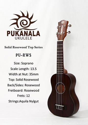 Đàn Ukulele Pukanala Soprano PU-RWS