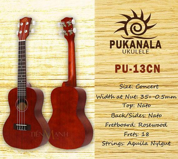 Đàn Ukulele Pukanala Concert PU-13CN