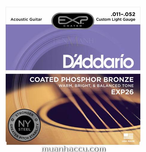 Dây Đàn Guitar Acoustic DAddario EXP26