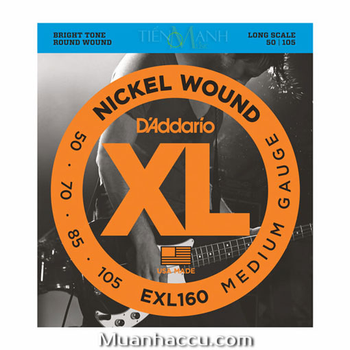 Dây Đàn Guitar Bass DAddario EXL160