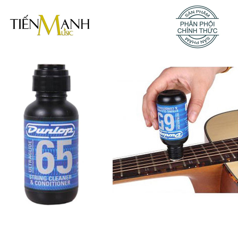 USA Dunlop 65 Dầu lau dây Đàn Guitar Ultraglide String Cleaner và Conditioner