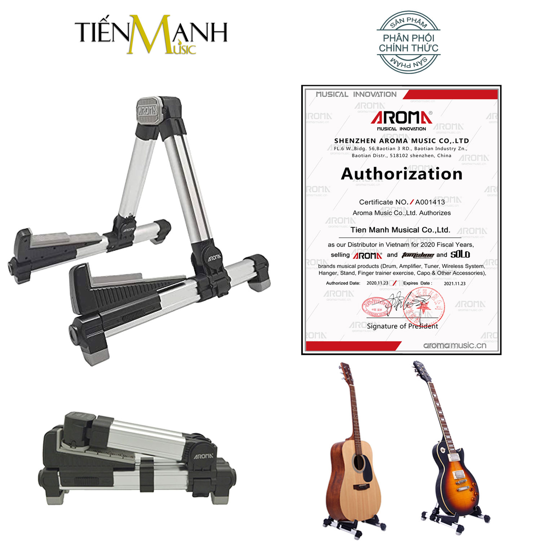 Giá Để Đàn Guitar, Ukulele, Violin, Guitarlele, Mandolin Aroma AGS-08 (Bạc)