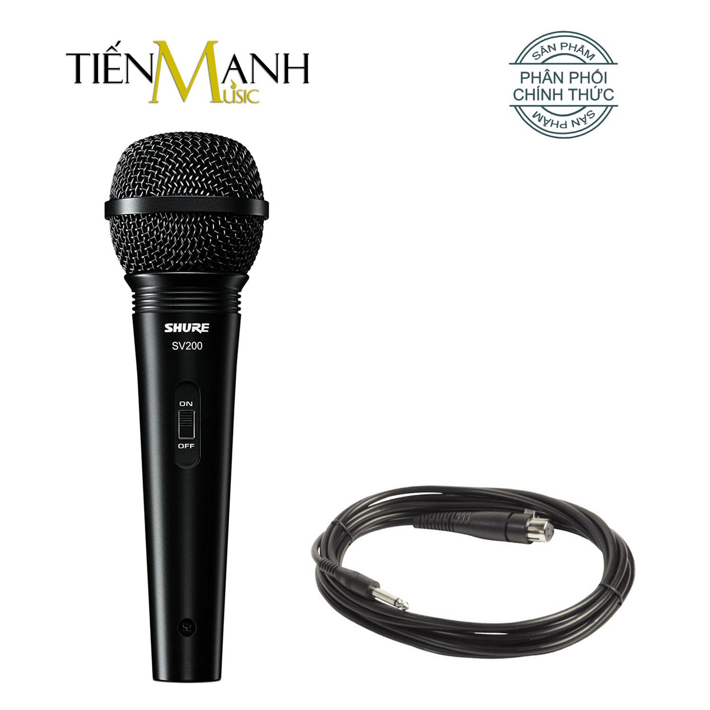 Mic Shure SV200 Có Dây Cầm Tay Vocal Microphone Karaoke Micro SV200-Q-X - Chính Hãng USA