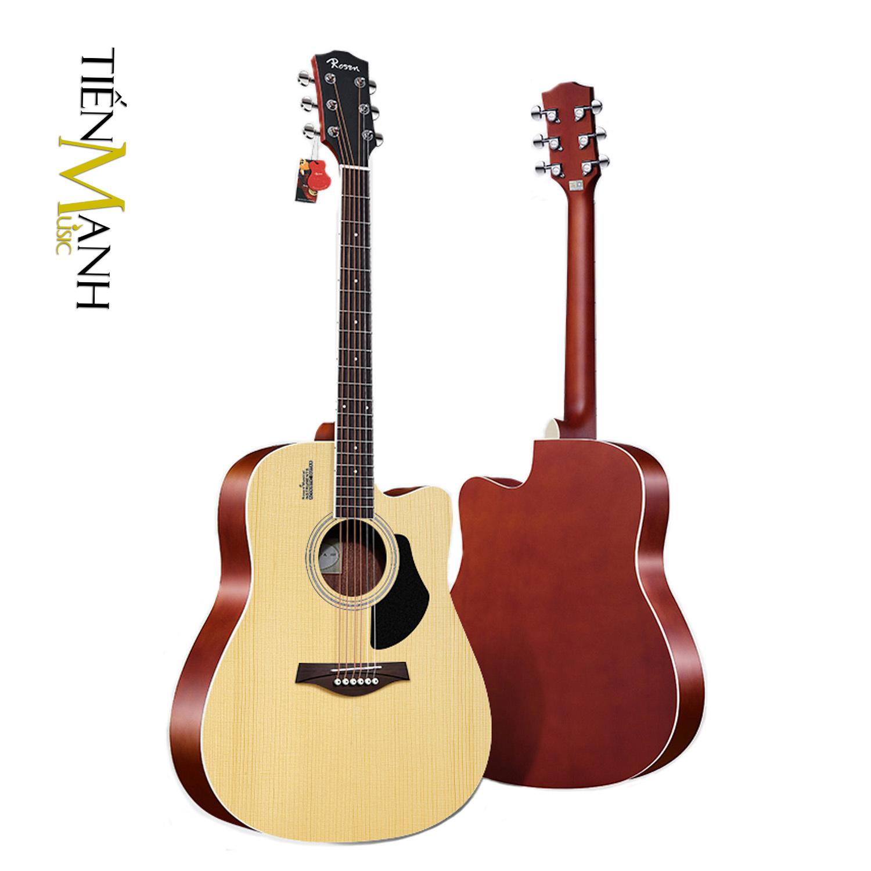 Đàn Guitar Acoustic Rosen G12NA Màu Gỗ Dáng D (Size 41)