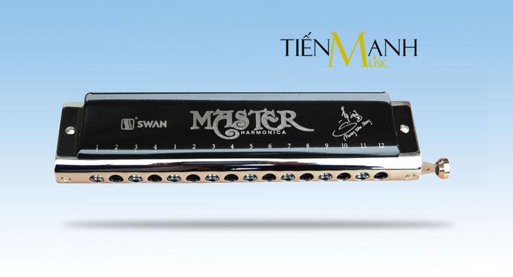 Kèn Harmonica Swan Chromatic Master SW1664 H-BK - 16 lỗ