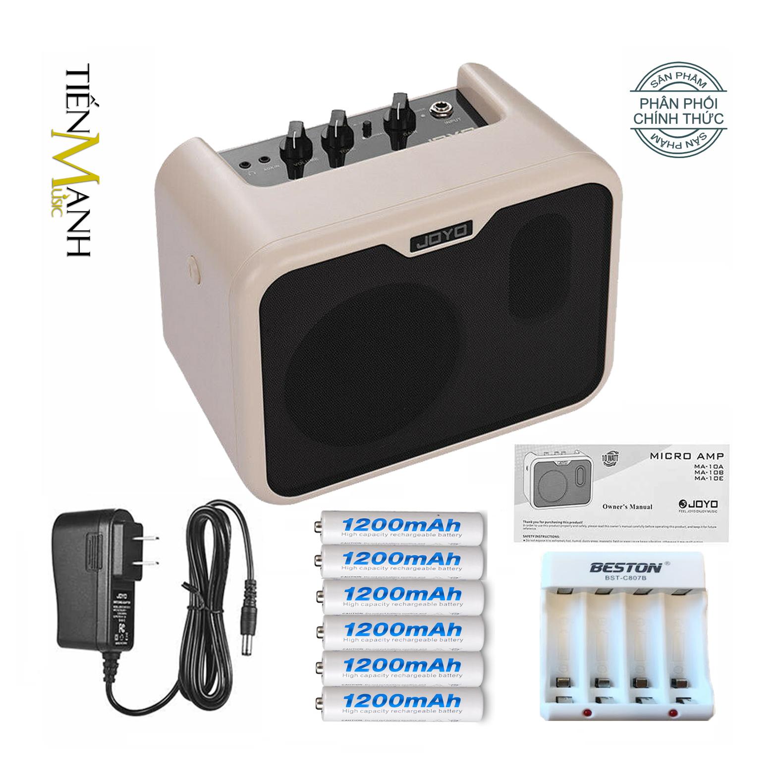 Ampli Cho Đàn Guitar Bass Joyo MA-10B 10W - Kèm Nguồn, 6 Cục Pin Sạc, Bộ Sạc Pin (Loa Amplifier) - Nhạc Cụ Mộc