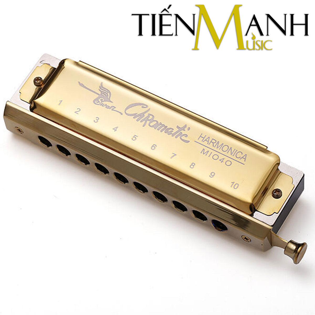 Kèn Harmonica Swan Chromatic 10 Lỗ 1040 (Vàng)