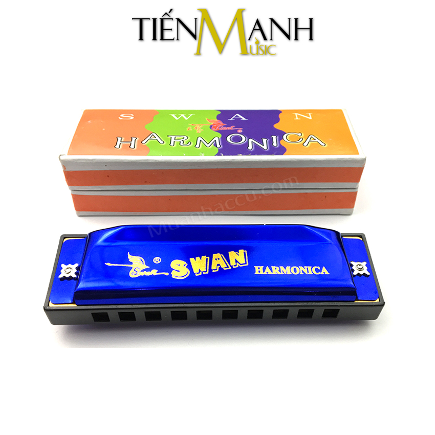 Kèn Harmonica Swan 10 Lỗ SW1020 (Xanh)
