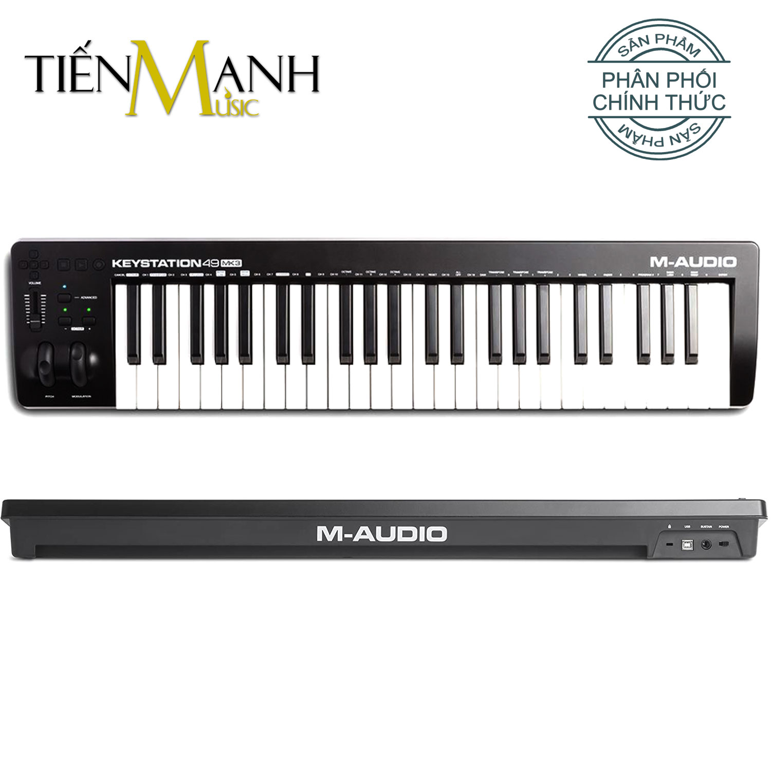 M-Audio Keystation 49 MK3 Ultra Portable USB MIDI Keyboard Controller MKIII With ProTools First