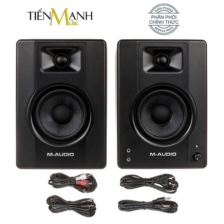 [Một Cặp] M-Audio BX4 Loa Kiểm Âm (120W) - MAudio Studio Monitor Speaker for Gaming Music Production Live Streaming and Podcasting - Chính Hãng