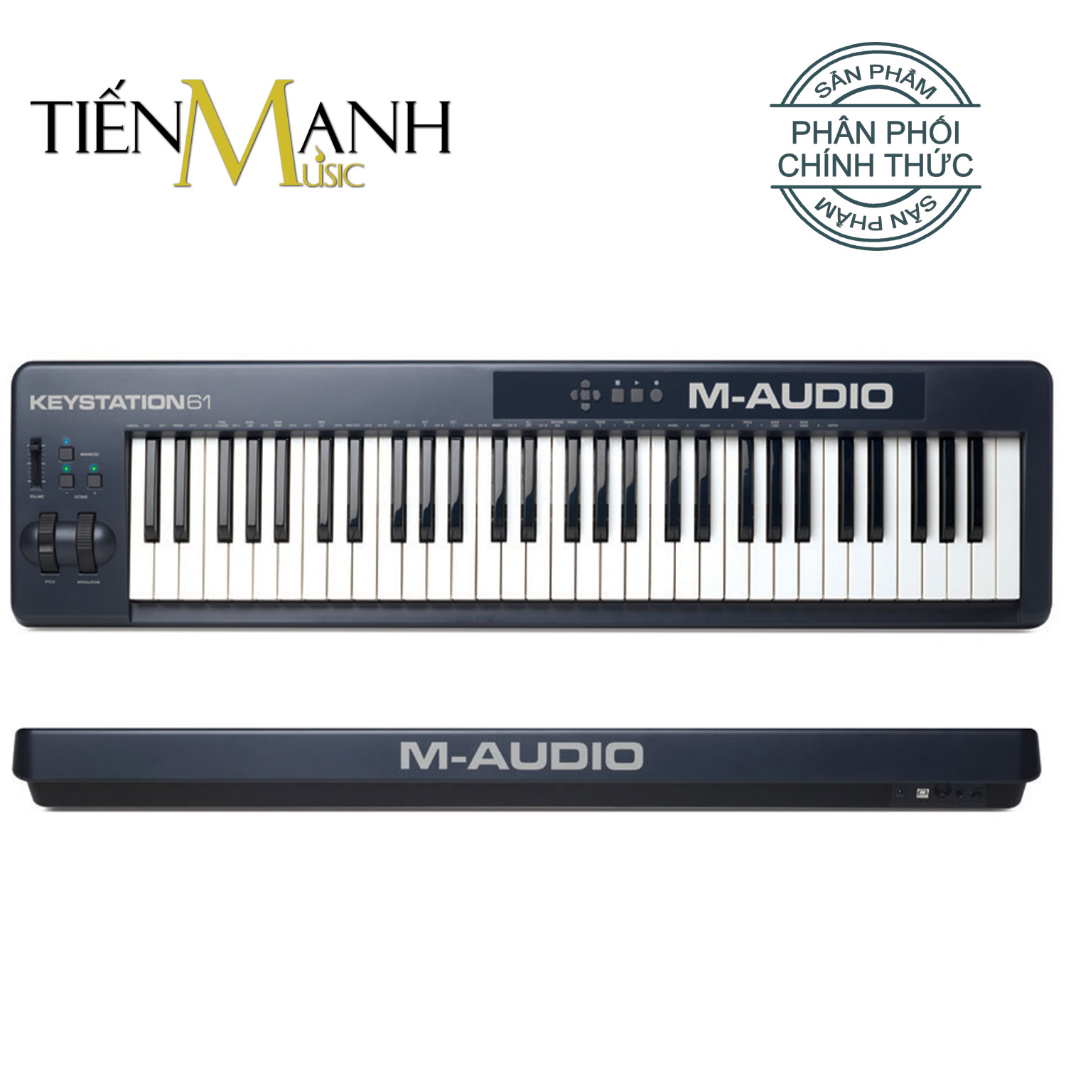 M-Audio Keystation 61 MK2 Ultra Portable USB MIDI Keyboard Controller MKII With ProTools First