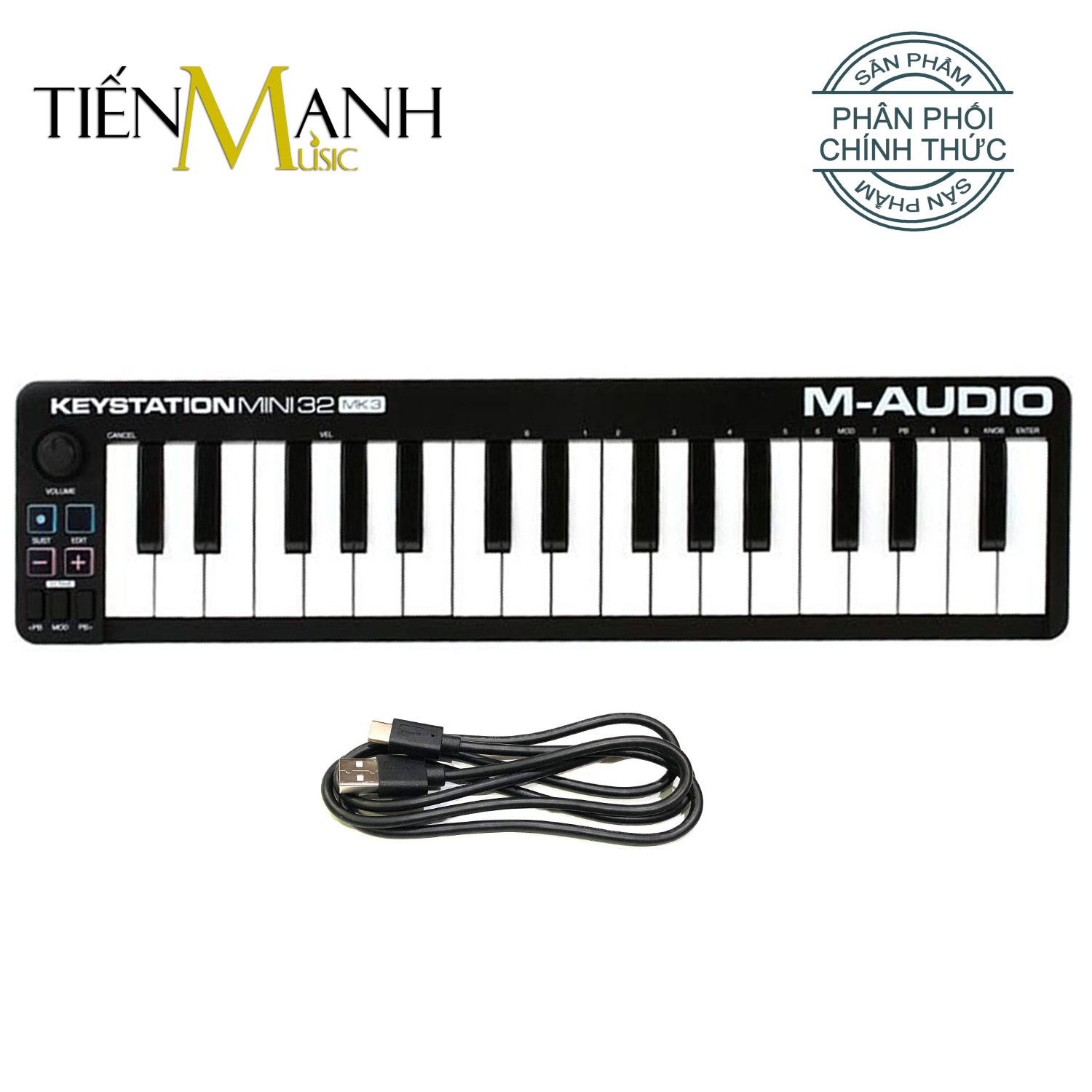 M-Audio Keystation Mini 32 MK3 Ultra Portable USB MIDI Keyboard Controller MKIII With ProTools First
