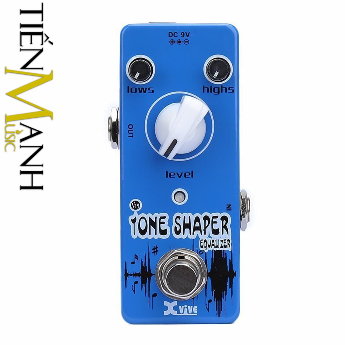 Phơ Guitar Xvive Analog Tone Shaper V15 (Nguồn chính hãng đi kèm - Bàn đạp Fuzz Pedals Effects)