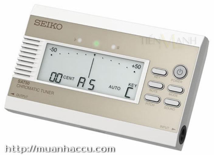 Máy lên dây Seiko SAT50 Gold (Chromatic Tuner)