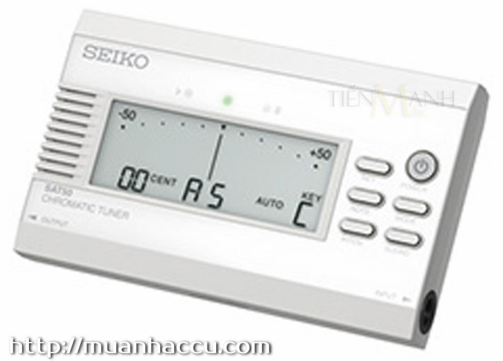 Máy lên dây Seiko SAT50 White (Chromatic Tuner)