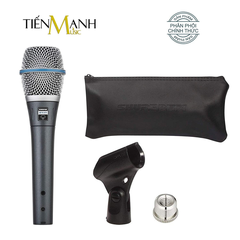 Shure BETA 87A Mic Cầm Tay Micro Supercadioid Condenser Studio Phòng Thu BETA87A Microphone Karaoke BETA87A-X