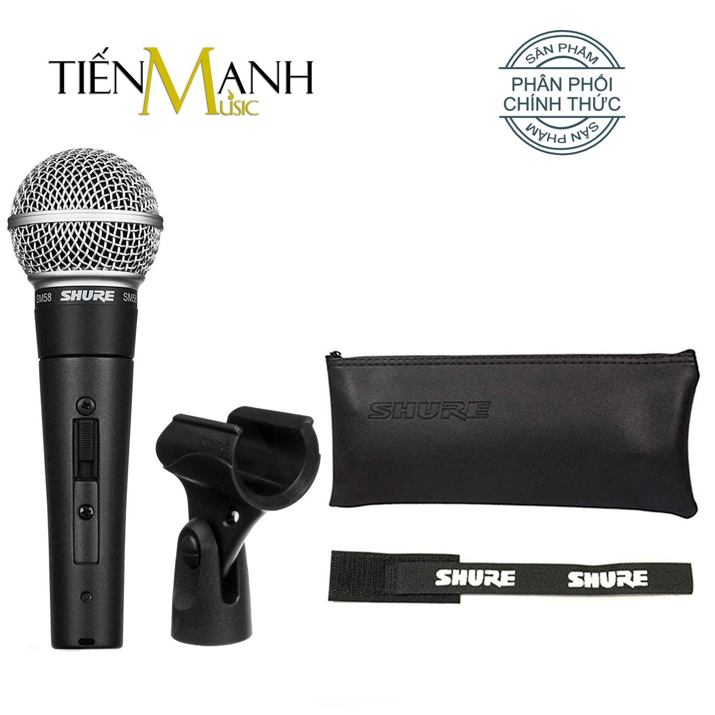 Mic Cầm Tay Shure SM58-S Có Công Tắc Micro Phòng Thu Studio Microphone Karaoke - Chính Hãng USA