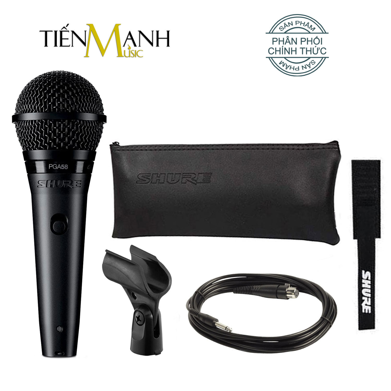 Mic Shure PGA58-QTR Có Dây Cầm Tay Vocal Microphone Karaoke Micro PGA58 - Chính Hãng USA