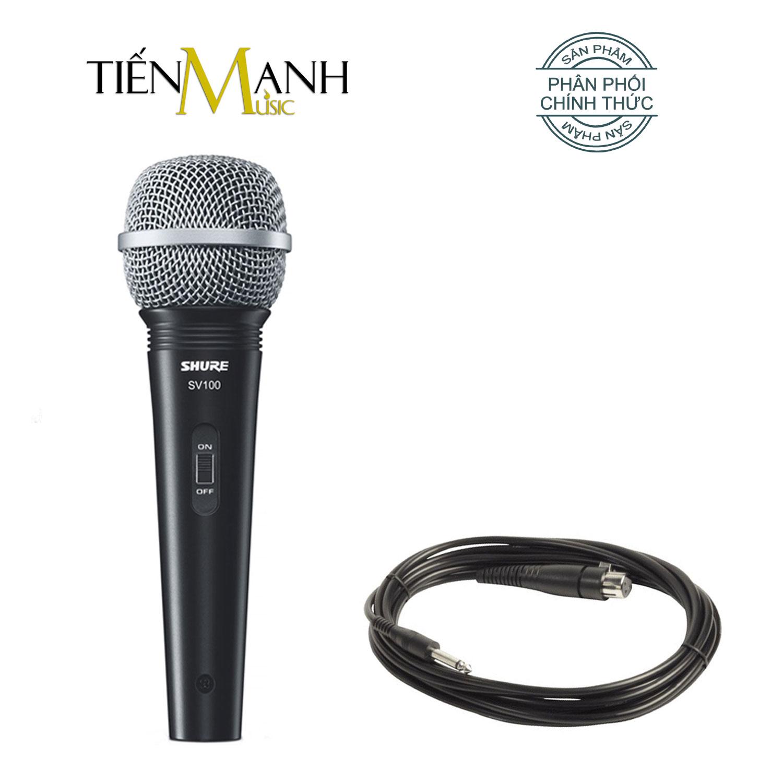 Mic Shure SV100 Có Dây Cầm Tay Vocal Microphone Karaoke Micro SV100-X - Chính Hãng USA