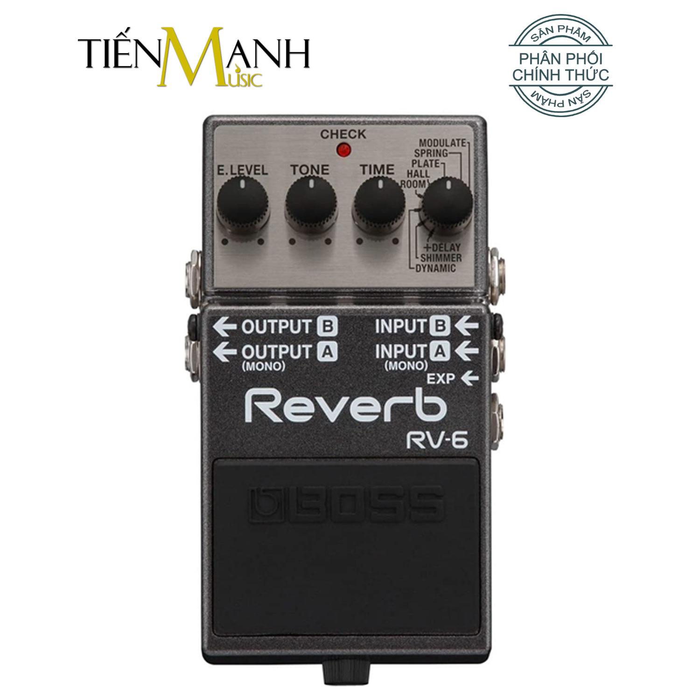 Phơ Guitar Boss Digital Reverb RV-6 (Bàn đạp Fuzz Pedals Effects RV6) - nhập khẩu và phân phối bởi Tiến Mạnh Music.